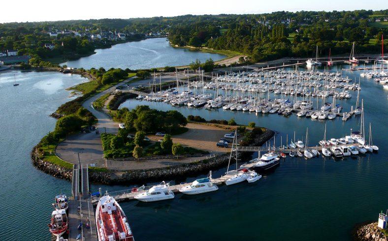 Kérantérec Campsite: La Foret Fouesnant Port La Foret Bird's Eye View R.quemere 2