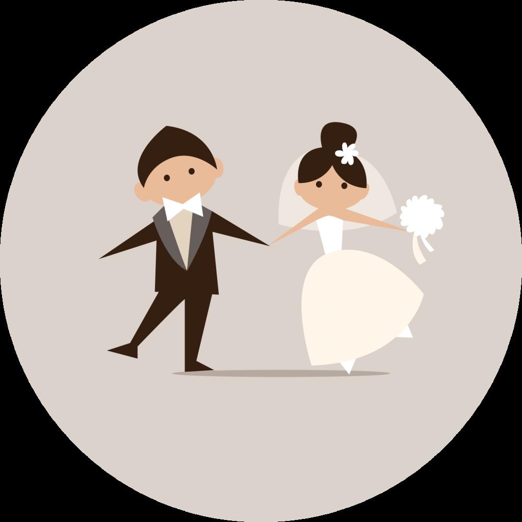 Camping De Kérantérec : Mariage Dessin Joyeux